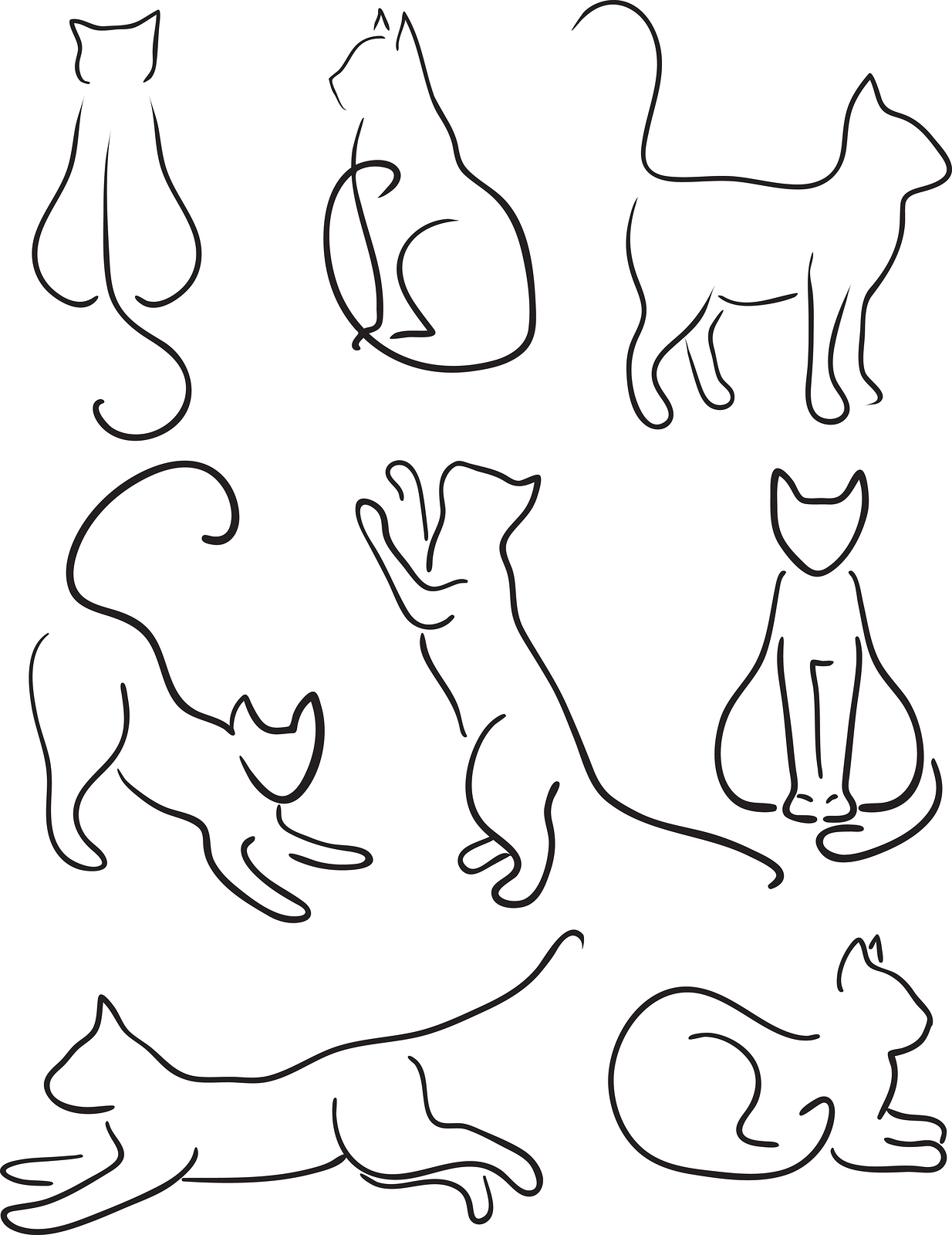 Line Art Cat : Levy innovation positioning for consultants and other